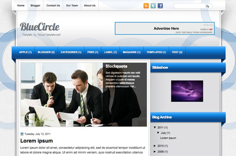 BlueCircle-blogger-template