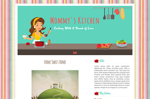 Mommys-kitchen-blogger-template