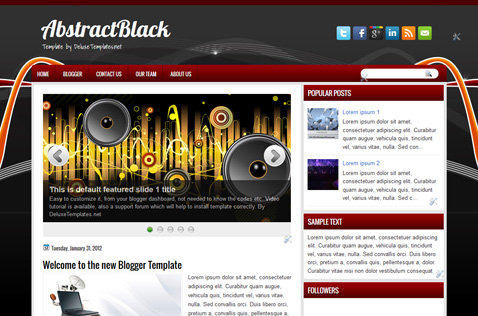 abstractblack-blogger-template