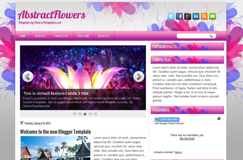 abstractflowers-blogger-template