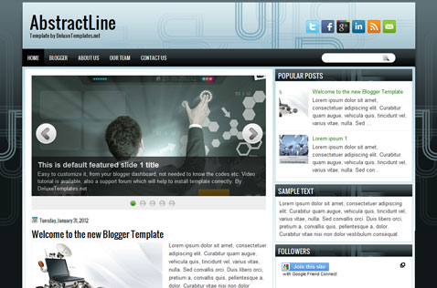 abstractline-blogger-template