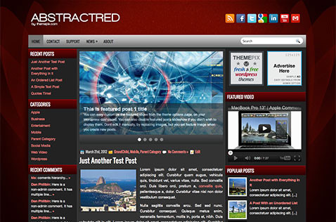 abstractred-wordpress-theme