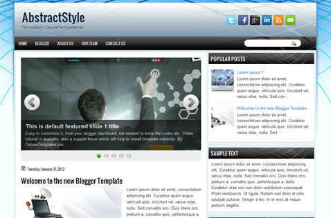 abstractstyle-blogger-template