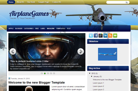 airplanegames-blogger-template
