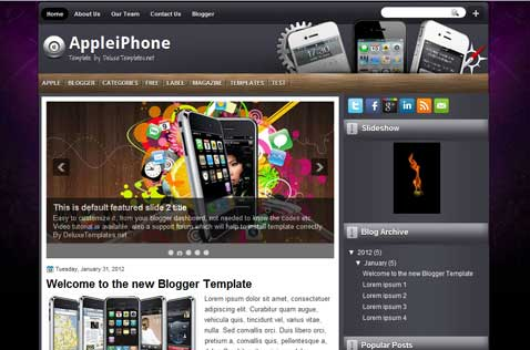 appleiphone-blogger-template