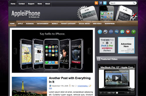 appleiphone-wordpress-theme