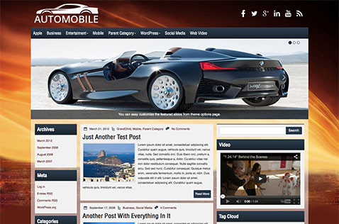 automobile-wordpress-theme