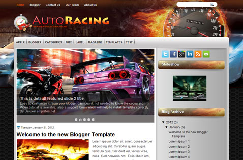 autoracing-blogger-template