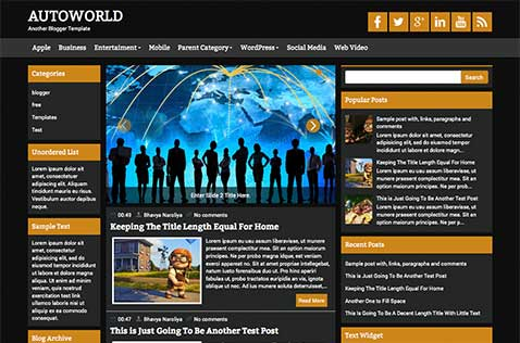 Games blogger templates deluxetemplates autoworld blogger template pronofoot35fo Images