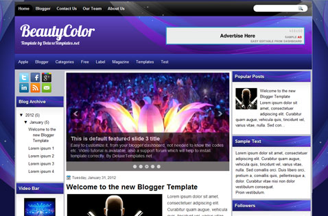 beautycolor-blogger-template