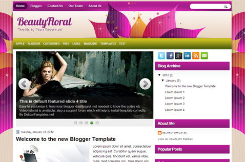beautyfloral-blogger-template