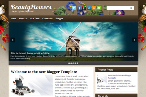 beautyflowers-blogger-template
