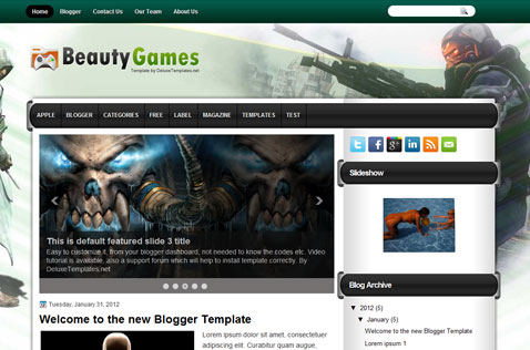 beautygames-blogger-template