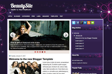 beautysite-blogger-template