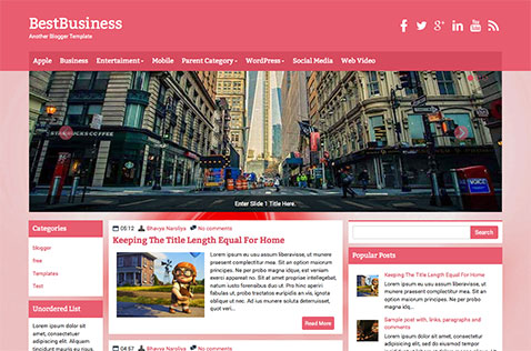 bestbusiness-blogger-template