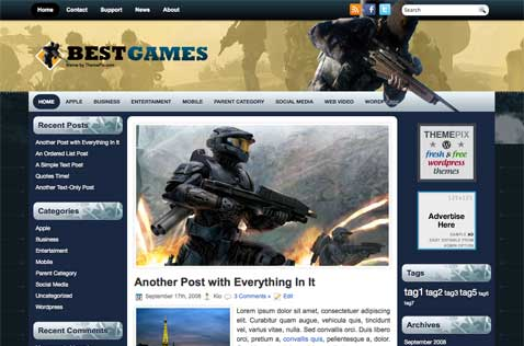 bestgame-wordpress-theme