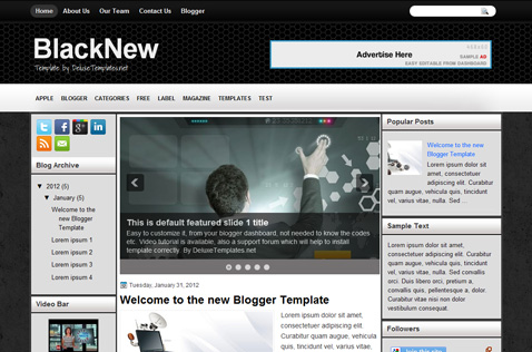 New blogger templates 2012 free.