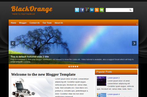 blackorange-blogger-template