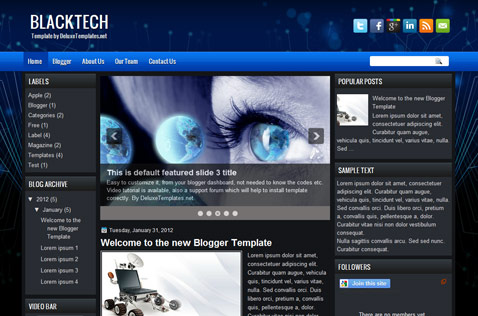 blacktech-blogger-template