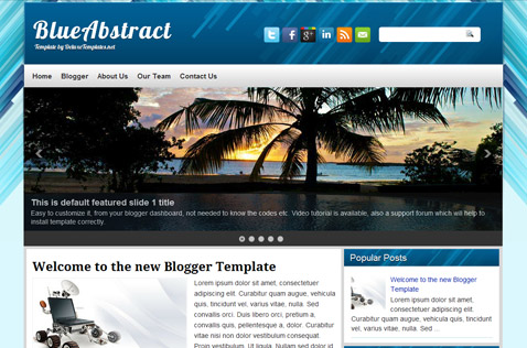 blueabstract-blogger-template