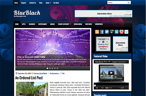 blueblack-wordpress-theme