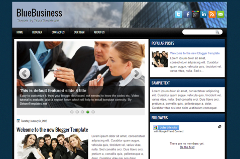 bluebusiness-blogger-template
