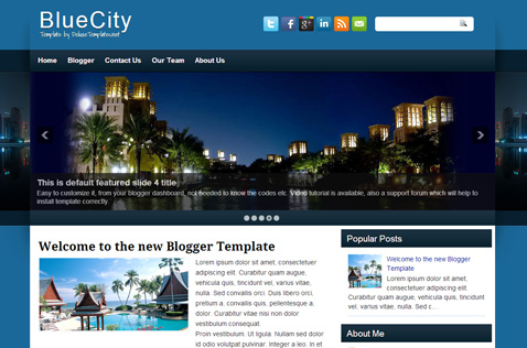 bluecity-blogger-template