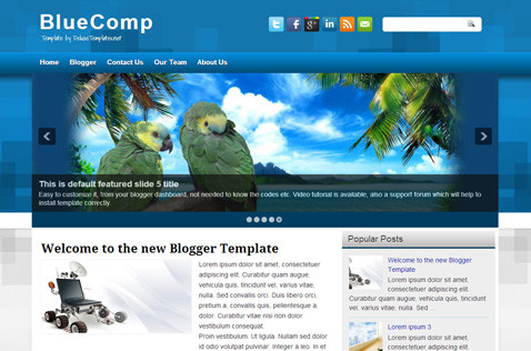 bluecomp-blogger-template