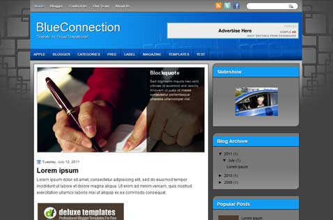 blueconnection-blogger-template