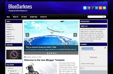 bluedarknes-blogger-template