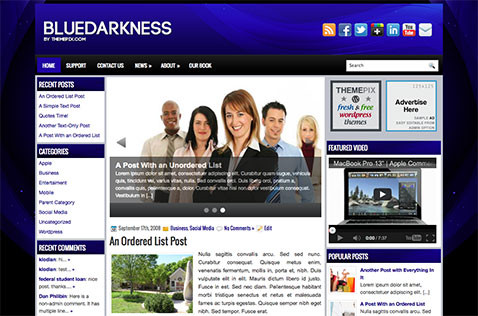 bluedarkness-wordpress-theme
