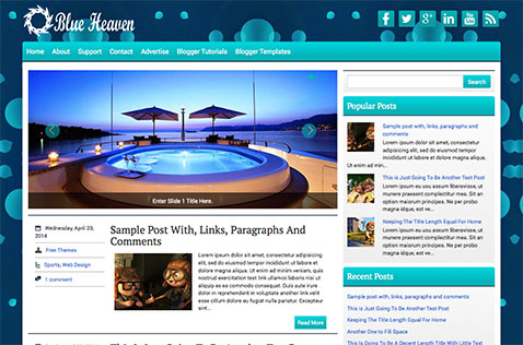 blueheaven-blogger-template