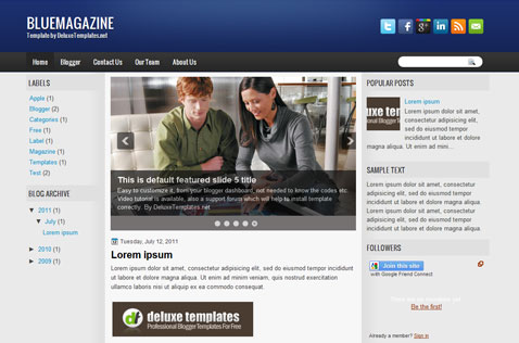 bluemagazine-blogger-template