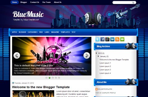 bluemusic-blogger-template