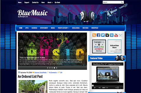 bluemusic-wordpress-theme