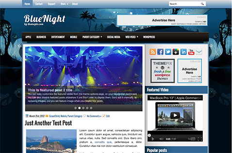 bluenight-wordpress-theme