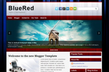 bluered-blogger-template