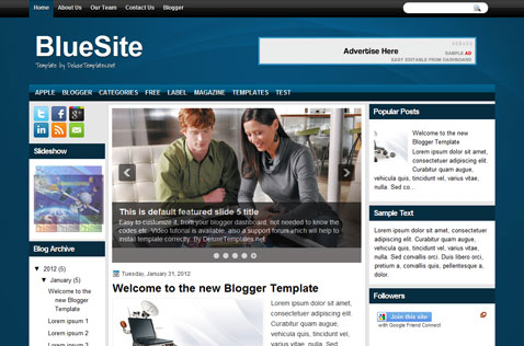 bluesite-blogger-template