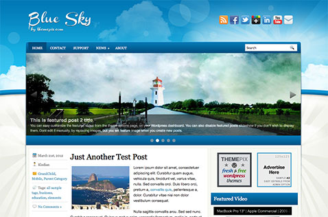 bluesky-wordpress-theme