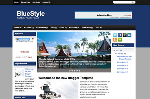 bluestyle-blogger-template