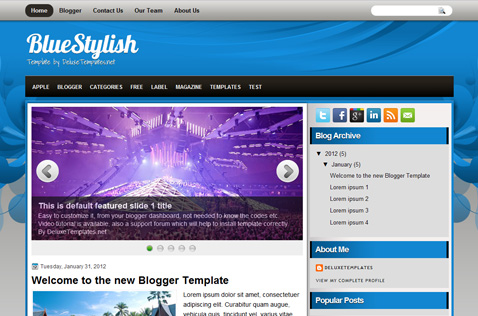 bluestylish-blogger-template