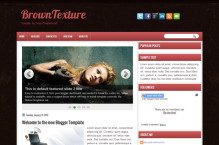 browntexture-blogger-template