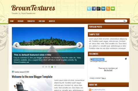 browntextures-blogger-template