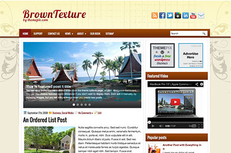 browntextures-wordpress-theme