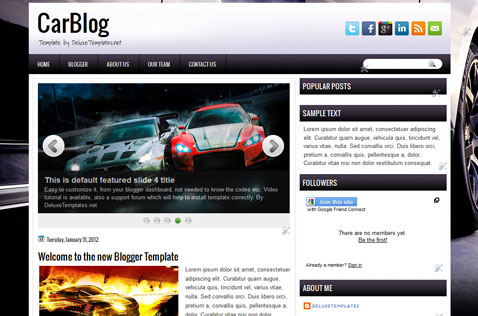 carblog-blogger-template