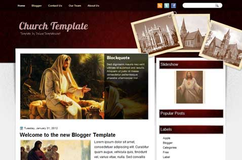 church-template-blogger-template