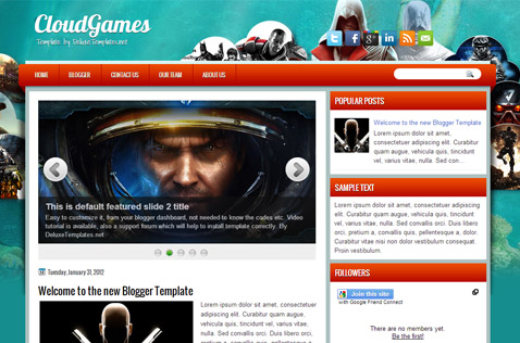 cloudgames-blogger-template
