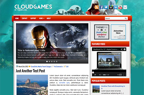 cloudgames-wordpress-theme