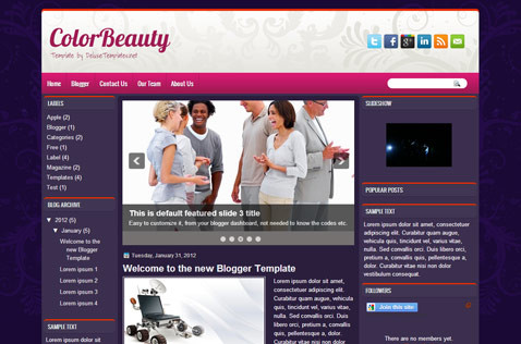 colorbeauty-blogger-template