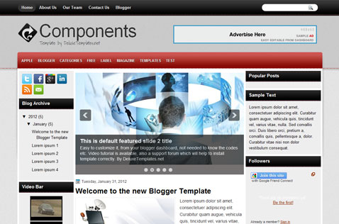 components-blogger-template